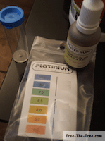ph testing liquid and scale