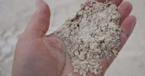 handful of fine dolomite lime