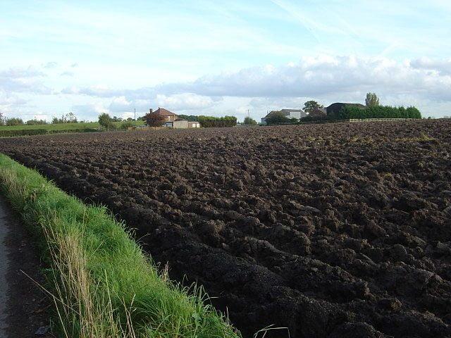 loamy soil in a farm of Lancashire