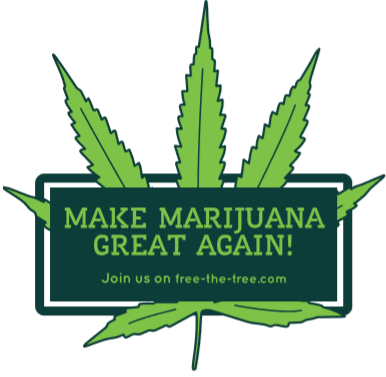 Free Make Marijuana Great Again Strickers