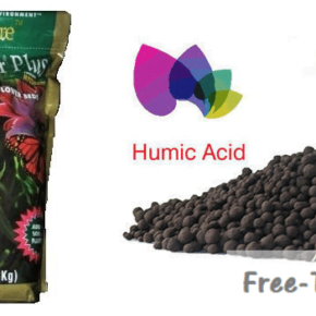 Humic Acid and Flower saver plus bag ready to be added to marijuana soil