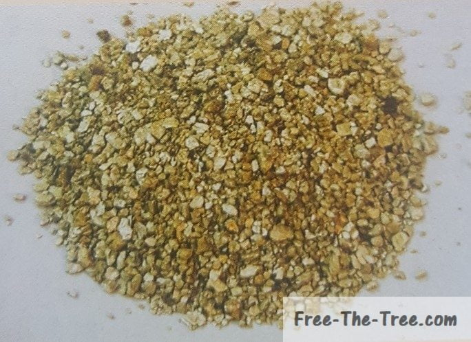 Vermiculite ready to be used as soil amendment