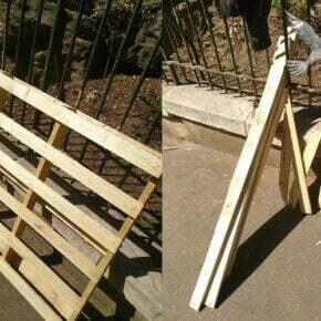 wooden pallen found and broken down for wood