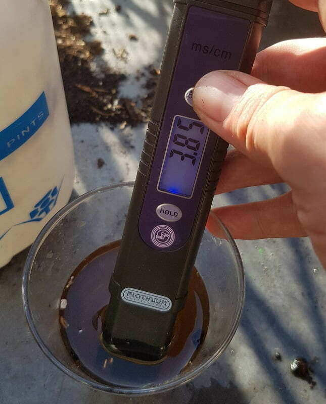 EC levels dropping thanks to flushing