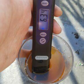 Increased EC levels (6.34!) during flushing