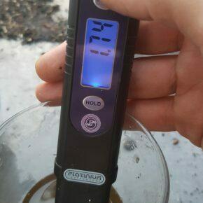 EC level at 1.74 after flushing
